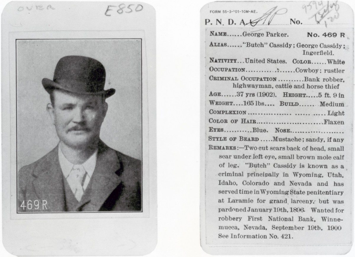 Pinkerton card of Butch Cassidy