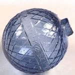 A Treasure from our West: Cross-hatch patterned blue glass target ball. 1.69.2083