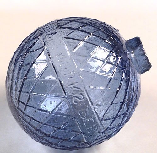 treasures blog 010 cross hatch patterned blue glass target ball