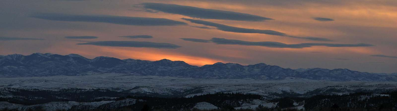 The Absaroka Range between Cody and Yellowstone's East Gate. Photo by Mack Frost.