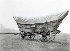 Conestoga wagon, Mercaldo Collection.