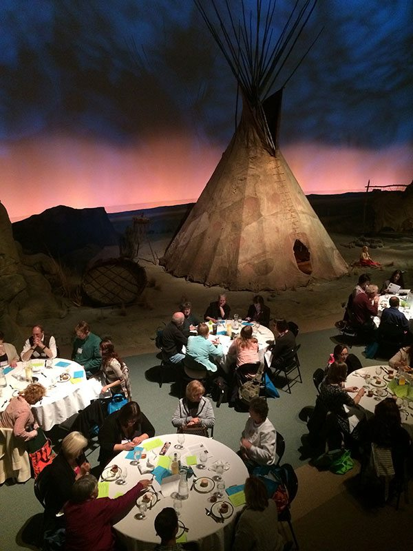 Have an elegant after-hours dinner in Plains Indian Museum's Seasons of Life Gallery.