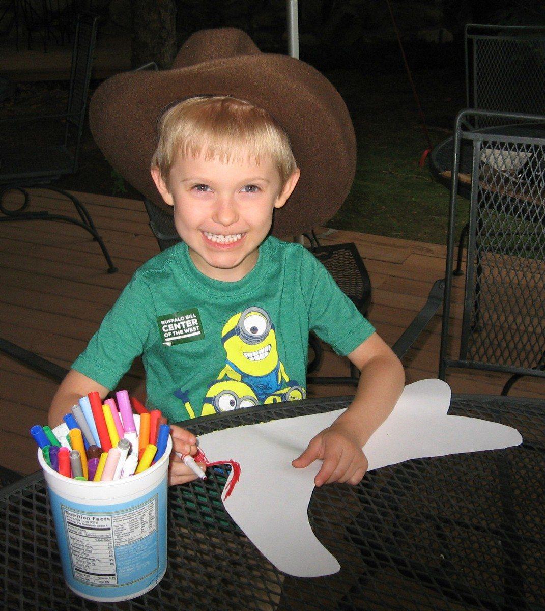 Here's a child enjoying the wonderful activity provided