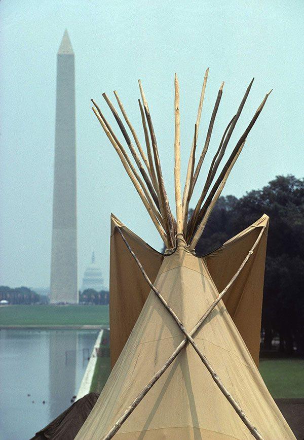 "Ken Blackbird's ""Three Monuments, Washington, D.C., 1994. P.426.02501"