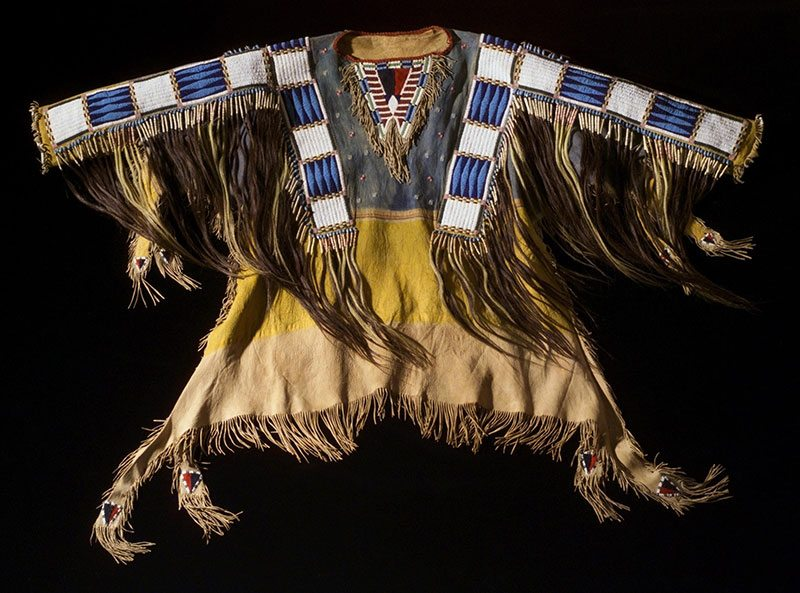 An object from the virtual collection: Oglala Sioux shirt worn by Red Cloud, ca. 1870s. Adolph Spohr Collection. Gift of Larry Sheerin. NA.202.598