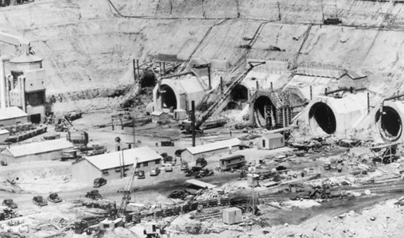 The Garrison Dam's massive, powerful tunnels under construction. Image courtesy of Marilyn Cross Hudson.