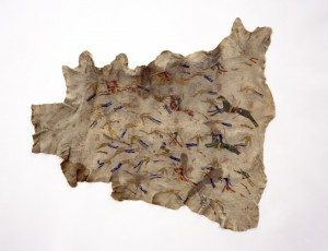 Painted deer hide of the Battle of Little Bighorn, Lakota, ca. 1895. Collection of the Buffalo Bill Center of the West—Gift of Robert C. Charles. NA. 702.4.