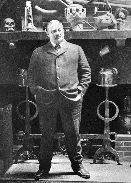 Frederic Remington in his New Rochelle studio, 1905. PN.23.1 (detail)