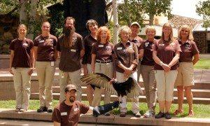 Staff & volunteers of The Raptor Experience