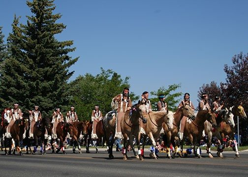2014 Stampede Parade: This amazing bareback drill team also performed at the Stampede Rodeo.