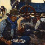 National Cowboy Day: N.C. Wyeth, The Lee of the Grub-Wagon, 1904