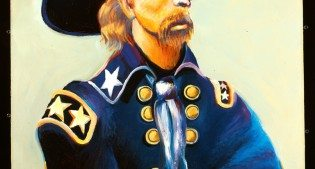 General Custer in Blue and Green