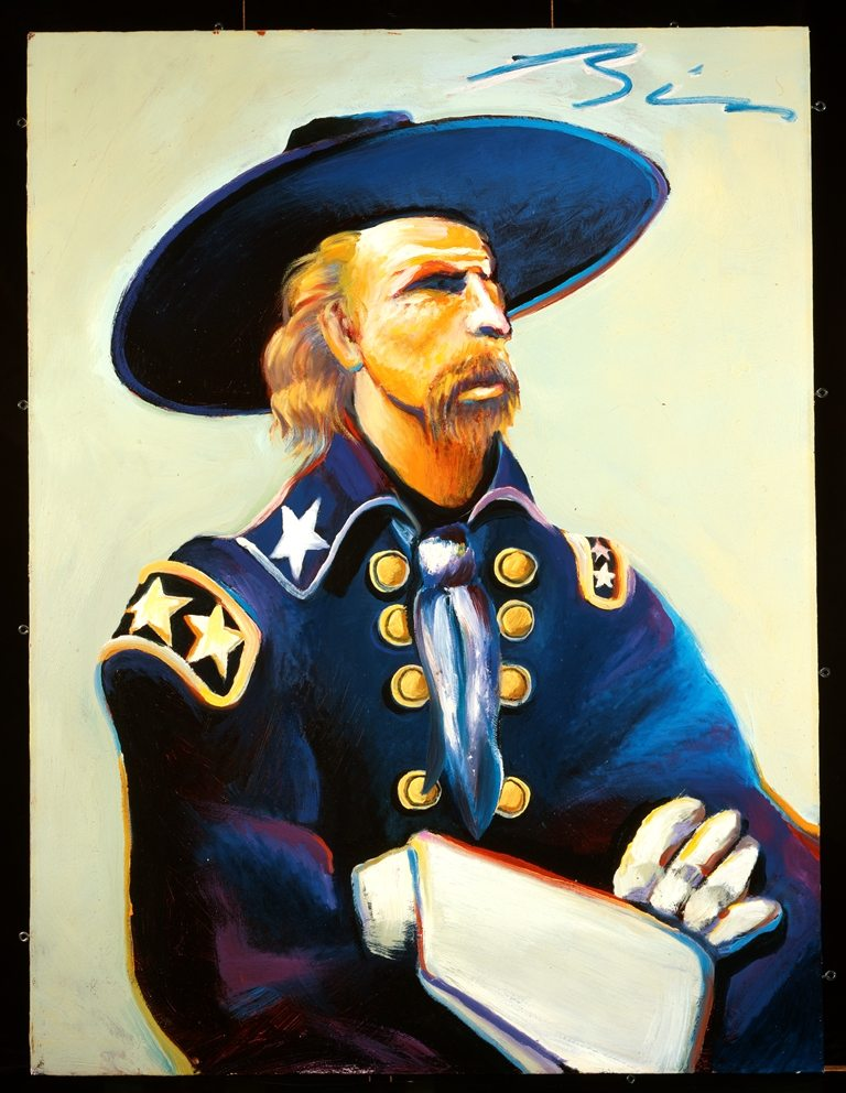 General Custer in Blue and Green by Earl Biss, 1996