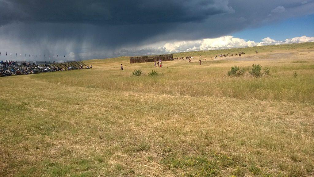 Custer Battle Reenactment, 2014: The die lie everywhere.