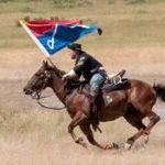 Custer Battle Reenactor: Cavalryman, 2014