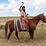 Custer Reenactor: Indian Warrior, 2014