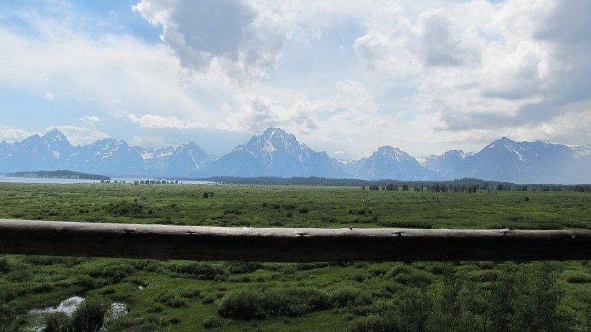 View of the Tetons