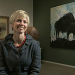Mindy Besaw in the Buffalo Bill Center of the West's Whitney Western Art Museum.