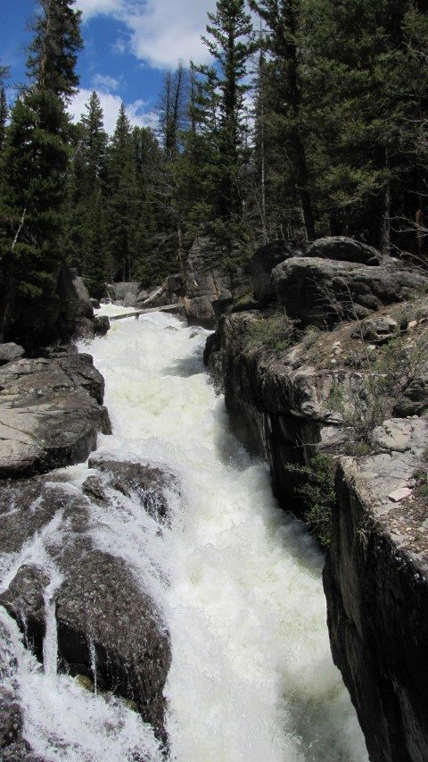 Raging waterfalls in the Beartooth Mountains