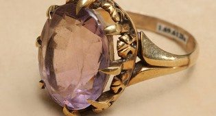 A treasure from our west: Cody's amethyst ring. 1.69.6128