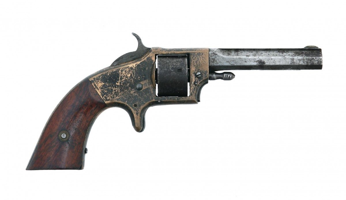 Rollin White Arms Co. Pocket Revolver, First Type, .22 rimfire; Gift of Olin Corporation, Winchester Arms Collection. 1988.8.3232