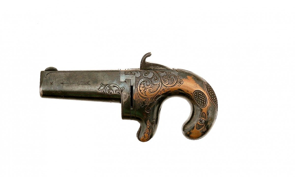 Moore's Patent Firearms Co. No. 1 Derringer, .41 rimfire; Gift of Olin Corporation, Winchester Arms Collection. 1988.8.960