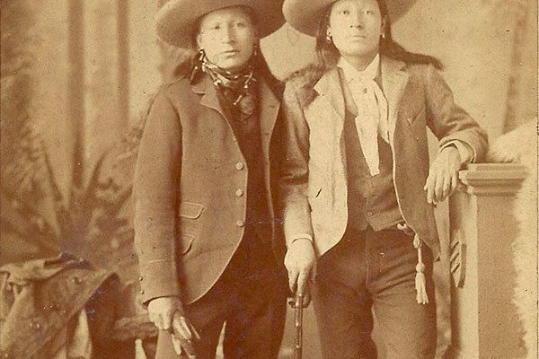 Two American Indians from Buffalo Bill's Wild West in Scotland.