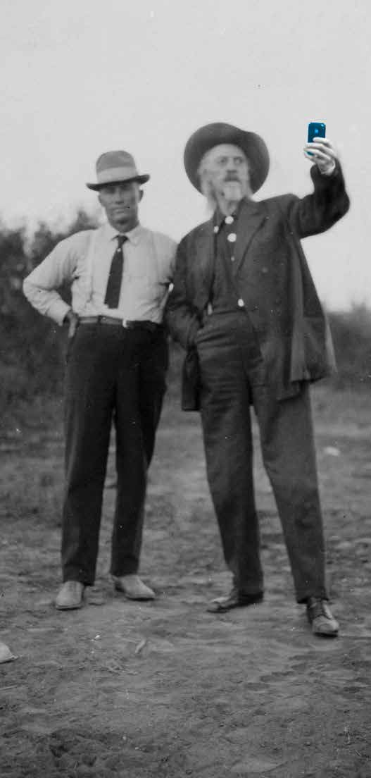 Billy Curtis and William F. Cody, ca. 1900. MS6 William F. Cody Collection. P.6.271 (altered)