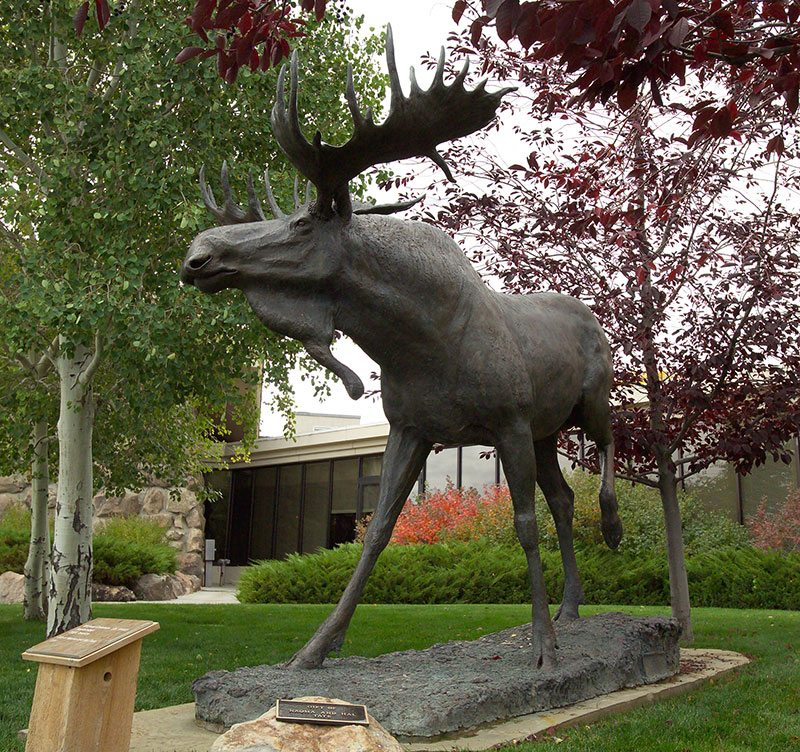 "Michael Coleman (b. 1946), ""September,"" 2001, cast 4/9, cast by Baer Bronze, Springville, UT. Bronze, 94 x 126 inches. Gift of Naoma and Hal Tate, 7.01."