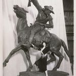 A Treasure from Our West: Photograph of Gertrude Vanderbilt Whitney with her Buffalo Bill—The Scout sculpture