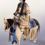 A Treasure from Our West: Northern Plains doll and horse, ca. 1900. Constructed of cloth, tanned deer hide, beads, horse hair, and pigment. Gift of Ms. Lucile M. Wright. NA.507.18