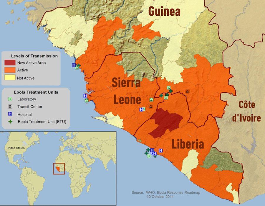 Ebola Outbreak Map