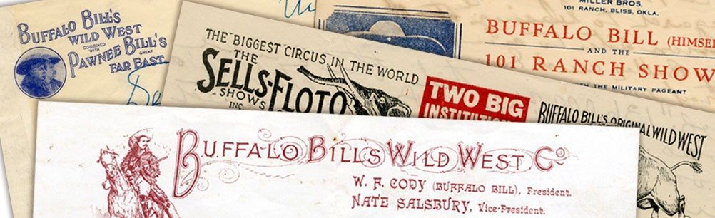 Letterhead from shows associated with Buffalo Bill. From the McCracken Research Library's collections
