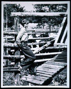 Amelia Earhart at a Wyoming ranch