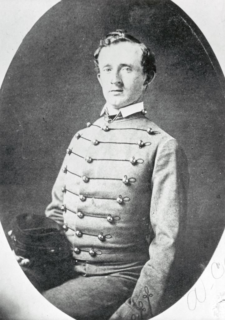 West Point Cadet George Armstrong Custer, ca. 1857. MS 71 Vincent Mercaldo Collection, McCracken Research Library. P.71.233