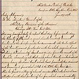 This collection contains various documents concerning the Battle of the Little Big Horn. Most prominent are two original reports of General Alfred H. Terry to General George Crook, the first official reports of the defeat of Custer at the Little Big Horn battlefield. Other documents in the collection include reminiscences of Wilmot Sanford on the battle, a letter from General E. S. Godfrey to E.S. Paxson about the battle, as well as a letter from William F. Cody to Elizabeth Custer regarding a statue of her husband.