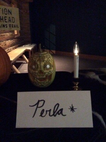 """""""Perla"""" was the winner of the staff Pumpkin Carving contest"""