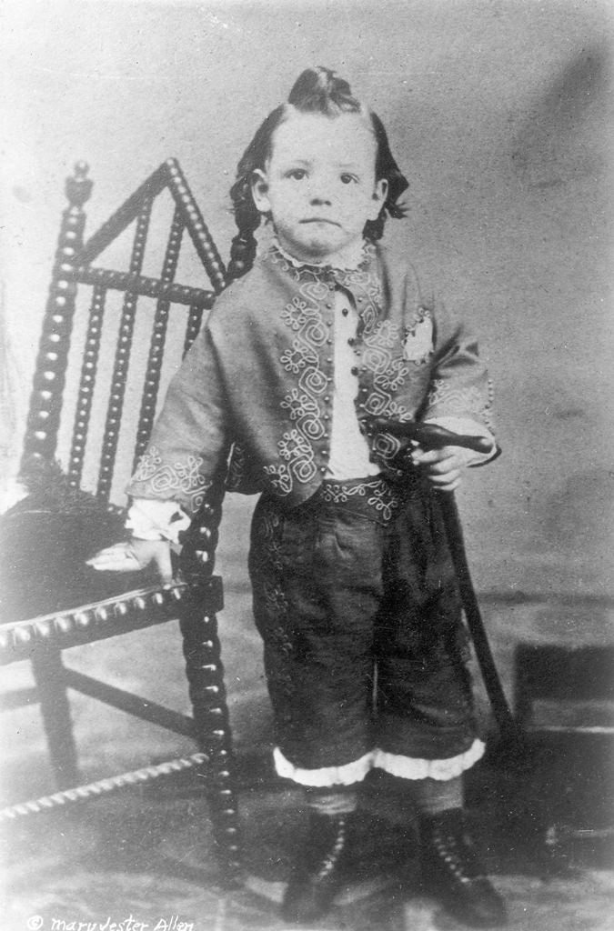 William F. Cody, age 4. MS 6 William F. Cody Collection, McCracken Research Library. P.6.672