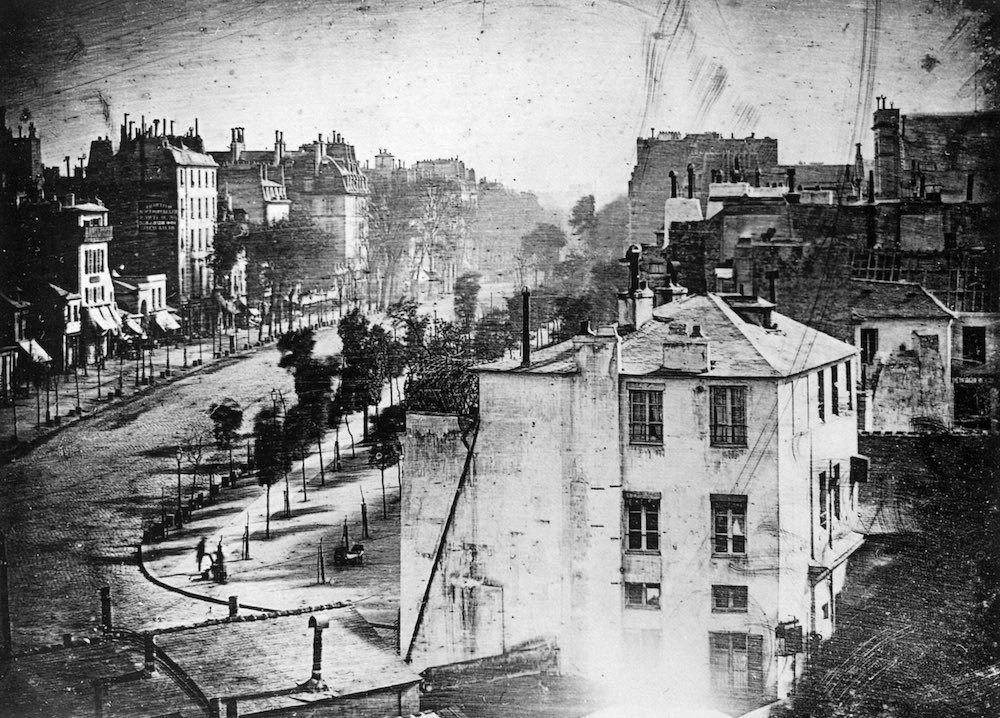 Oldest photo with a person - 1838