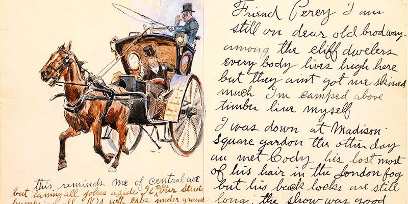 A Treasure from Our West: Charlie Russell illustrated letter. 69.60