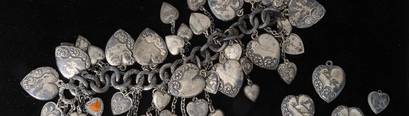 Sterling silver charm bracelet. Garlow Collection. 1.69.342