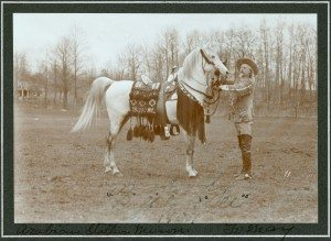 Buffalo Bill with his white horse