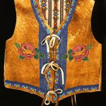 Vest (front), Debra Lee Stone Jay, Shoshone Bannock, Fort Hall, ldaho, 2002. Tanned and smoked hide, glass beads. Plains Indian Museum Acquisitions Fund Purchase. NA.202.1008