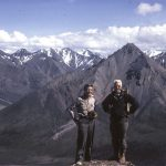Olaus J. Murie (1889 – 1963) and Adolph Murie (1899 – 1974) atop Cathedral Mountain, McKinley National Park (now Denali National Park), 1961. Courtesy Historical Archives, Denali National Park and Reserve, Denali Park, Alaska, U.S. National Park Service.