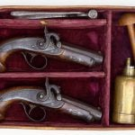 A Treasure from Our West: cased percussion pistols. 1988.8.237