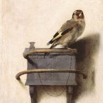 """The Goldfinch,"" Carel Fabritius 1654 This painting is not in our collection!"