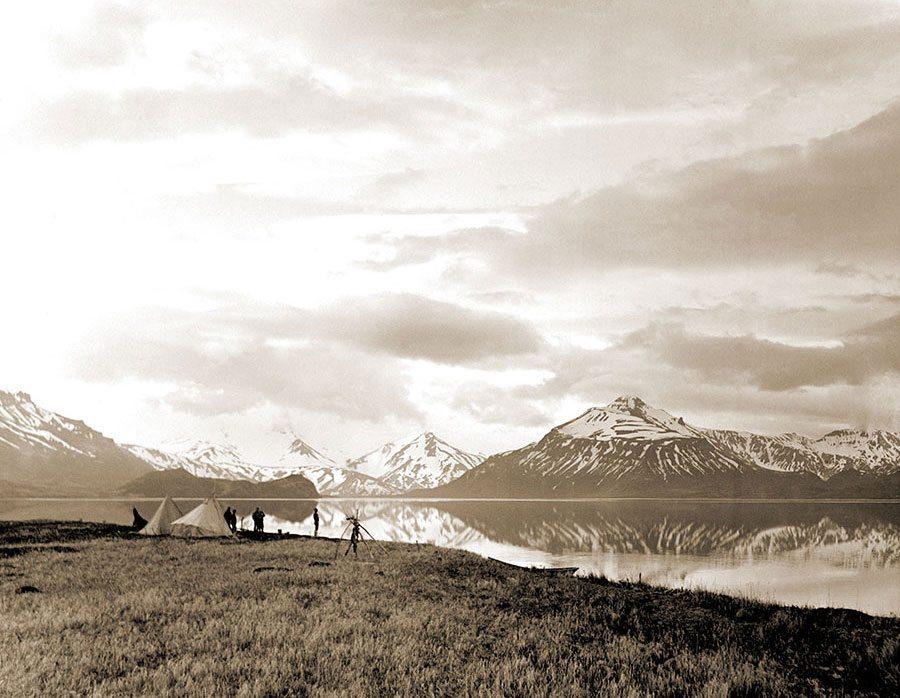 Bear Lake Camp. Harold McCracken expedition photo exhibition. N115#O1990V