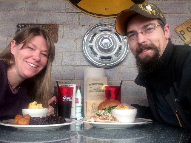 Melissa & Brandon enjoying some southern BBQ after the conference.