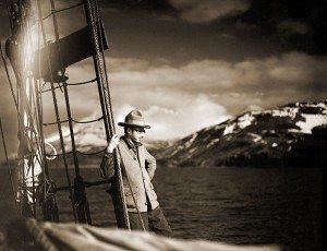 "Harold McCracken on the ""Morrissey."" Harold McCracken expedition photo exhibition. N198#F1253V"