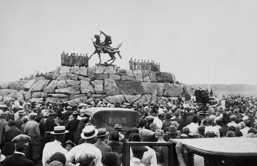The unveiling of Buffalo Bill—The Scout, July 4, 1924. Mary Jester Allen Collection. P.41.503